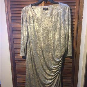 Tahari Woman Dresses & Skirts - Gold metallic dress.