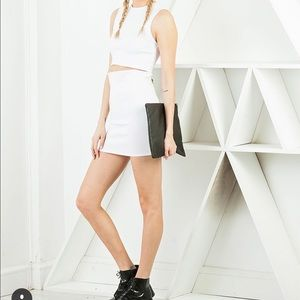 Lucca Couture Dresses & Skirts - White Two Piece Mini Dress
