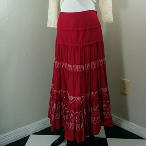 Sunny Leigh Dresses & Skirts - Sunny Leigh, red and white maxi skirt