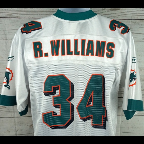 Ricky Williams Miami Dolphins NFL Jersey White M