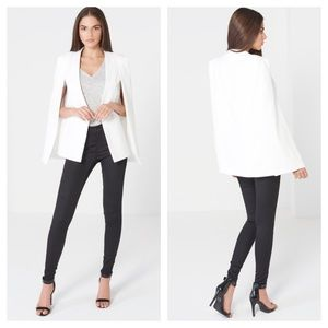 Lavish Alice Jackets & Blazers - Lavish Alice Collarless Cape Blazer
