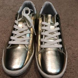 Zara Champagne Gold Sneakers
