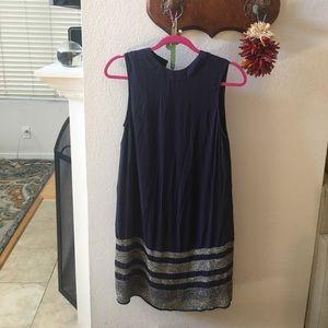 Joie Blue Beaded Shift Dress XS