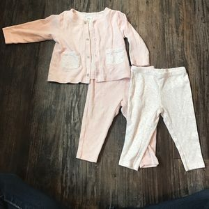 Nordstrom Baby Other - Nordstrom baby 6 month cardigan and 2 leggings