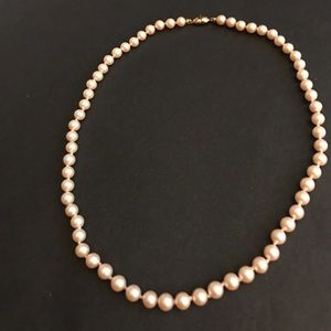 """Monet Jewelry - 18"""" Vintage Monet Champagne colored faux pearls."""