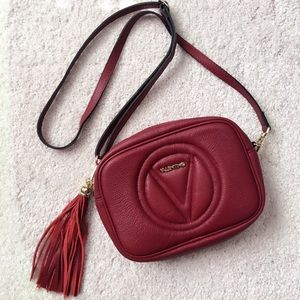 Mario Valentino Handbags - Mario Valentino Nina Leather Fringes crossbody bag