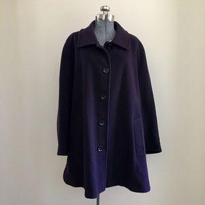 Lands' End Jackets & Blazers - Wool/cashmere blend Lands' End coat
