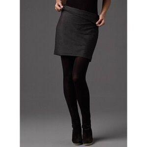 Eileen Fisher Dresses & Skirts - Eileen Fisher Black Stretch Crepe Foldover Skirt