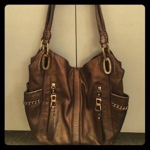 b. makowsky Handbags - B makowsky bronze handbag