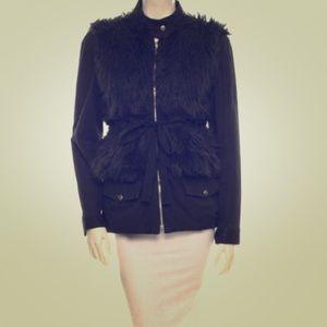 Loeffler Randall Jackets & Blazers - Loeffler Randall black faux fur military jacket🖤