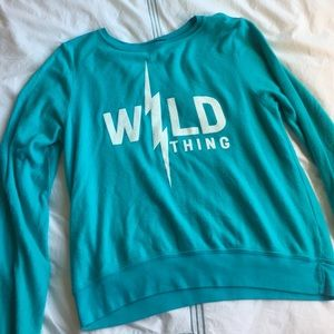 Wildfox Tops - Wildfox Wild Thing teal sweatshirt