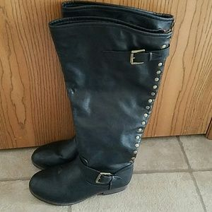 Journee Collection Shoes - Black extra wide Calf boots