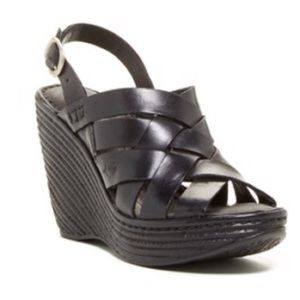 Born Shoes - Born Black Wedges
