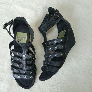 Blowfish Shoes - [Blowfish] Black Gladiator Wedge Sz 9.5