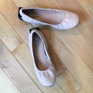 United Nude Shoes - United Nude Block Ballet Flats in Pale Pink