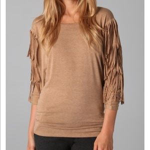 Torn by Ronny Kobo Tops - Torn by Ronny Kobo long sleeve fringe shirt