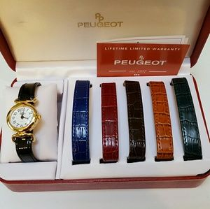 Peugeot Accessories - Watch with 6 interchangeable bands NWOT
