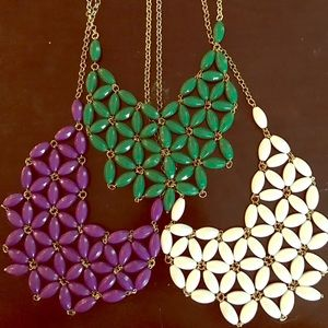 Ily Couture Jewelry - Three flower design necklaces