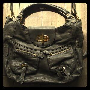 Melie Bianco Handbags - Melie Bianco Gray Expandable Handbag with strap