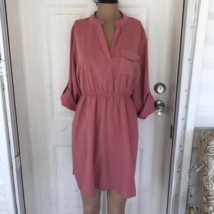 Rue 21 Dresses & Skirts - Rue 21 blush pink mini shirt dress 1X NWT new