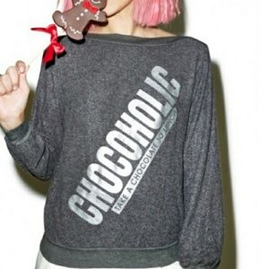 Wildflower Tops - Wildfox  Take a Chocolate to Lunch BBJ EUC
