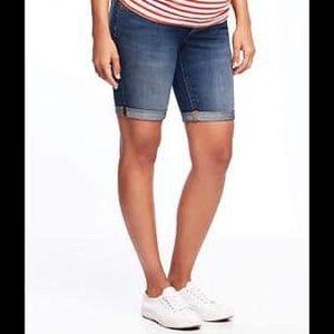 Old Navy Pants - MATERNITY Old Navy Full Panel Denim Bermuda Shorts