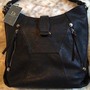 Danielle Nicole Handbags - Black Hobo, Silver Hardware, Vegan