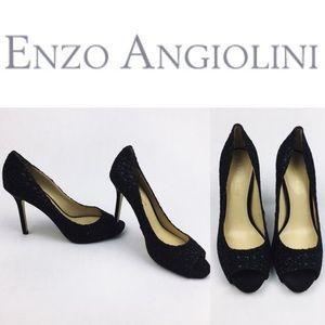 Enzo Angiolini Shoes - 🔥DROPSALE🔥ENZO ANGIOLINI BLACK SPARKLE HEELS SZ7