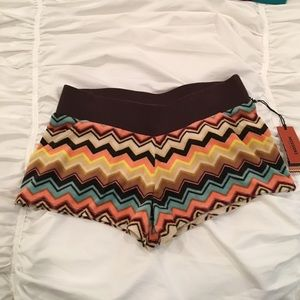 Missoni Pants - MISSONI  NWT! Shorty Velour Chevron Shorts (XS)