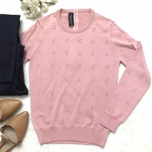 Givenchy Tops - GIVENCHY Pink Perforated Logo Top Blouse