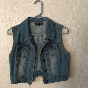 C'esttoi Jackets & Blazers - Jean Vest