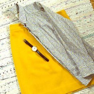 J.Crew Factory Wool Pencil Skirt