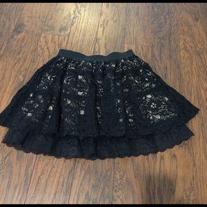 Forever 21 Dresses & Skirts - Flirty black lace forever 21 skirt size m