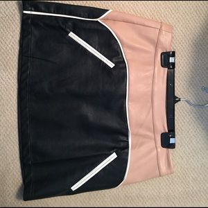 Urban Outfitters color block mini skirt