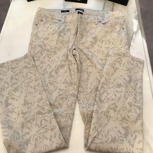 a.n.a Denim - Cream and grey skinny jeans