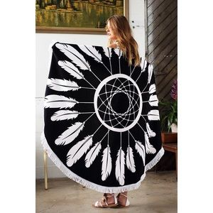 likeNarly Other - 🆕Round Feather Beach Throw/Blanket