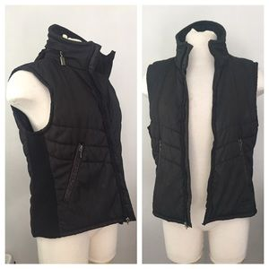 Versace Jackets & Blazers - Vintage Versace Down Vest, rain hat in back collar