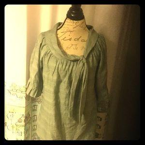 Vertigo Paris Tops - NEW tie neck ruffle sleeve blouse vintage retro