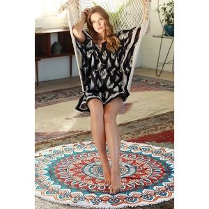 likeNarly Other - 🆕Multi-color Round Print Beach Throw/Blanket