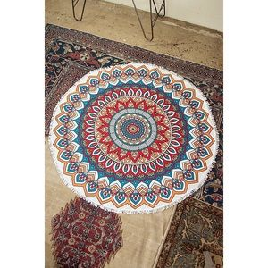 likeNarly Other - Multi-color Round Print Beach Throw/Blanket