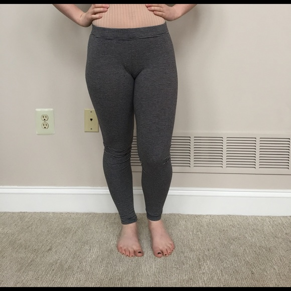 0de873d897ee4 Garage Pants | Grey And Black Striped Leggings | Poshmark