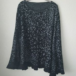 Unbranded Sweaters - Black Animal print over the head shawl