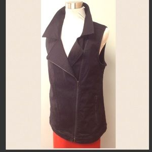 Eileen Fisher Jackets & Blazers - Eileen Fisher Cotton Moto Vest