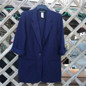 Sag Harbor Jackets & Blazers - Professional Blue Androgynous Blazer