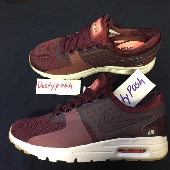 the best attitude da08c 28940 Nike Air Max Zero Night Maroon Sneakers Shoes New NWT