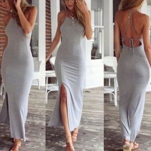 Dresses & Skirts - Gray maxi dress