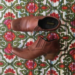 Durango Shoes - Leather Slip On Durangos Booties Like New