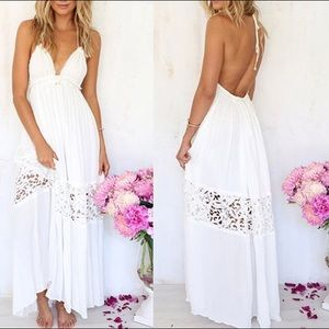 Dresses & Skirts - White maxi dress
