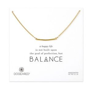 Dogeared Jewelry - Balance Gold Necklace