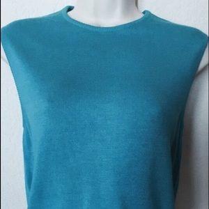 Ballantyne Tops - Silk cotton Ballantyne top shell blue. Scotland